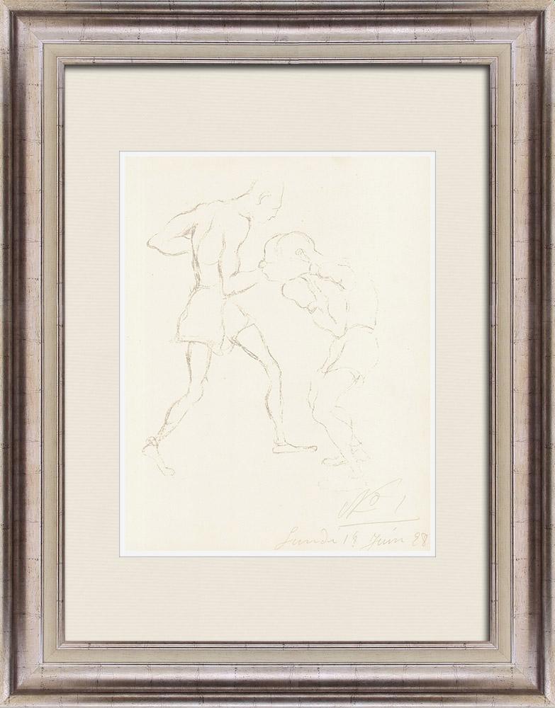 Gravures Anciennes & Dessins | Sport - Boxe 49/71 | Lithographie | 1928