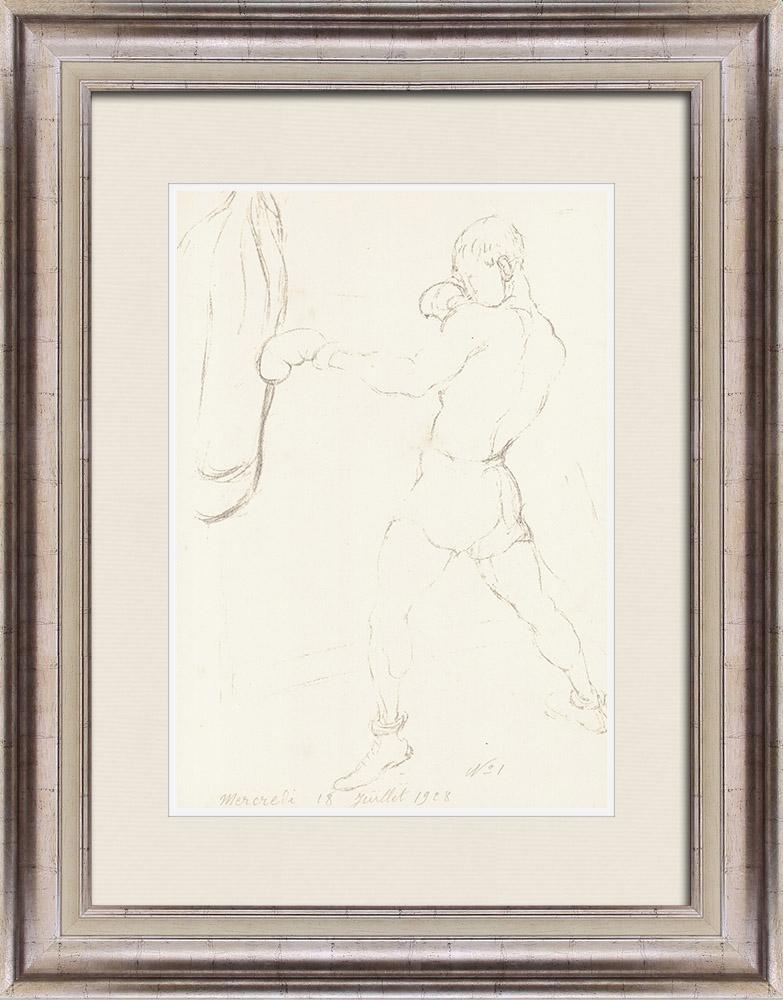 Gravures Anciennes & Dessins | Sport - Boxe 50/71 | Lithographie | 1928