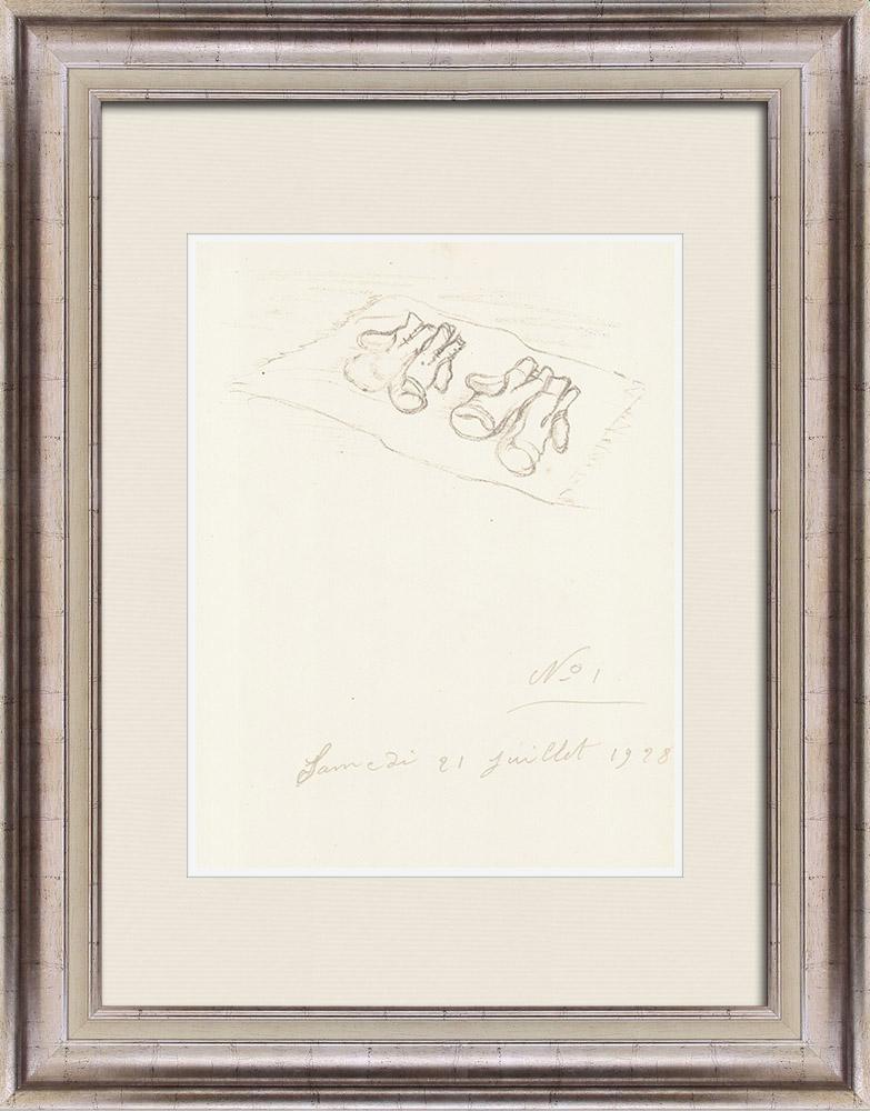 Gravures Anciennes & Dessins   Sport - Boxe 54/71   Lithographie   1928