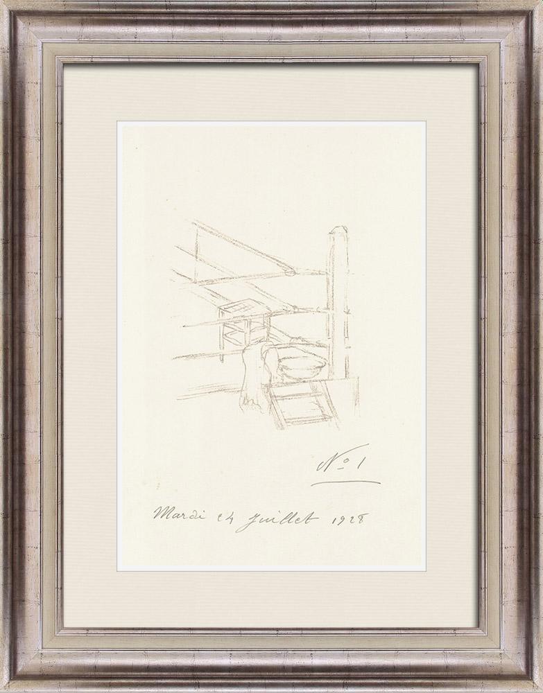 Gravures Anciennes & Dessins   Sport - Boxe 56/71   Lithographie   1928