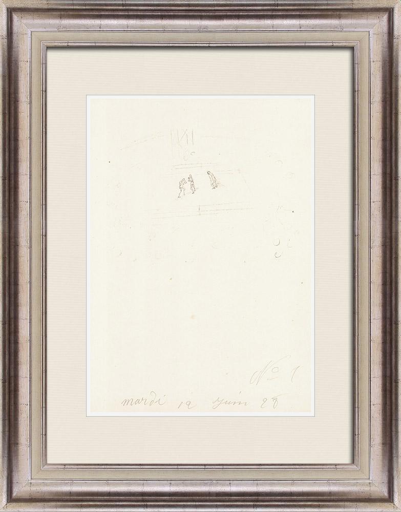 Gravures Anciennes & Dessins | Sport - Boxe 59/71 | Lithographie | 1928