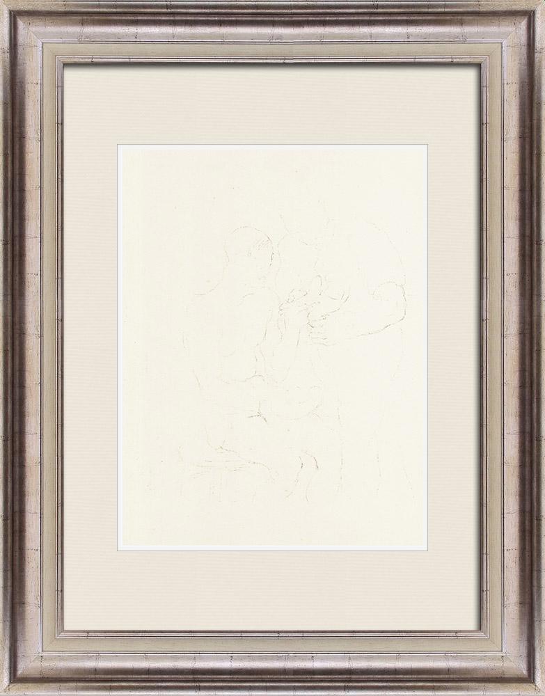 Gravures Anciennes & Dessins | Sport - Boxe 61/71 | Lithographie | 1928