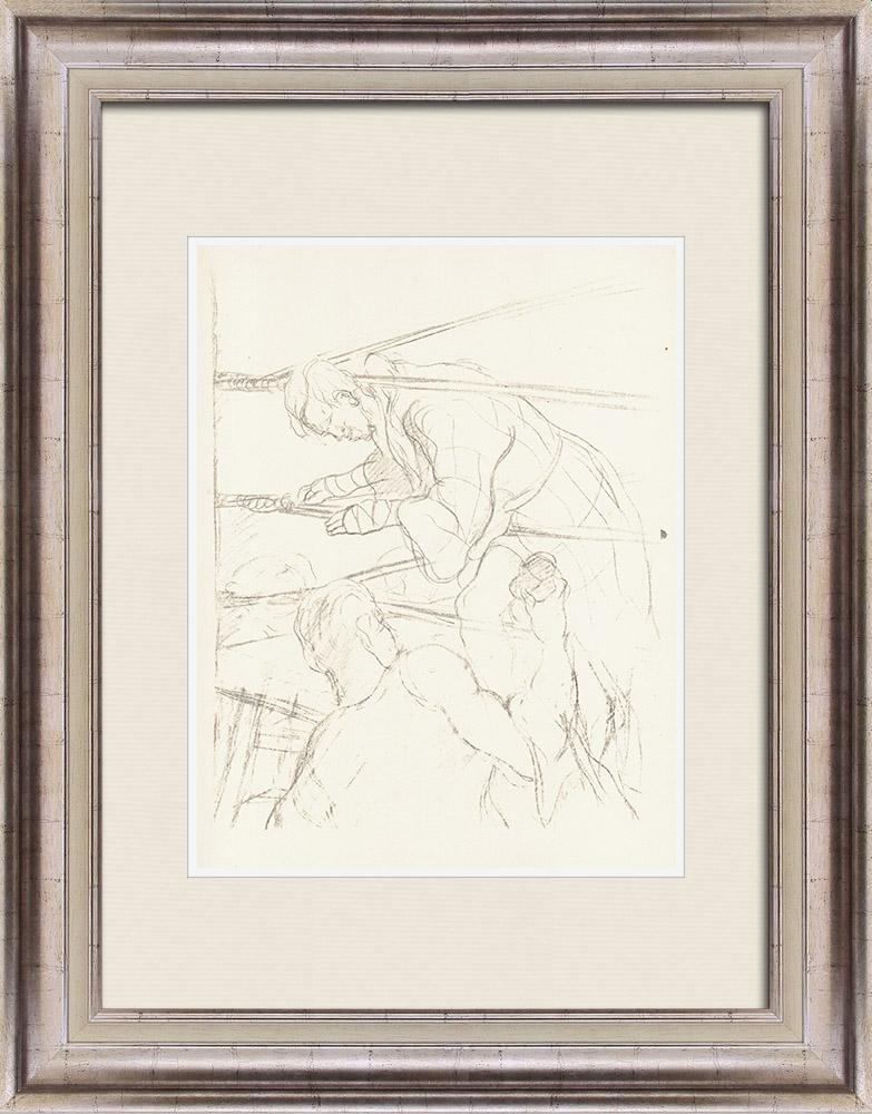 Gravures Anciennes & Dessins | Sport - Boxe 66/71 | Lithographie | 1928