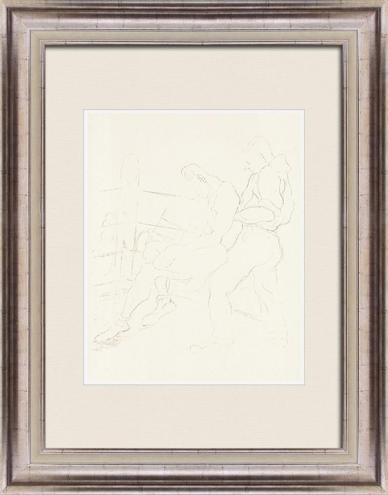 Gravures Anciennes & Dessins   Sport - Boxe 67/71   Lithographie   1928