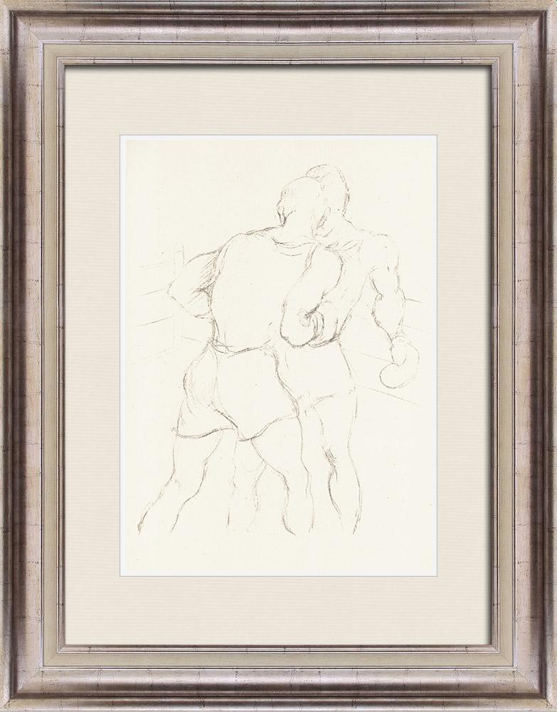 Gravures Anciennes & Dessins | Sport - Boxe 70/71 | Lithographie | 1928