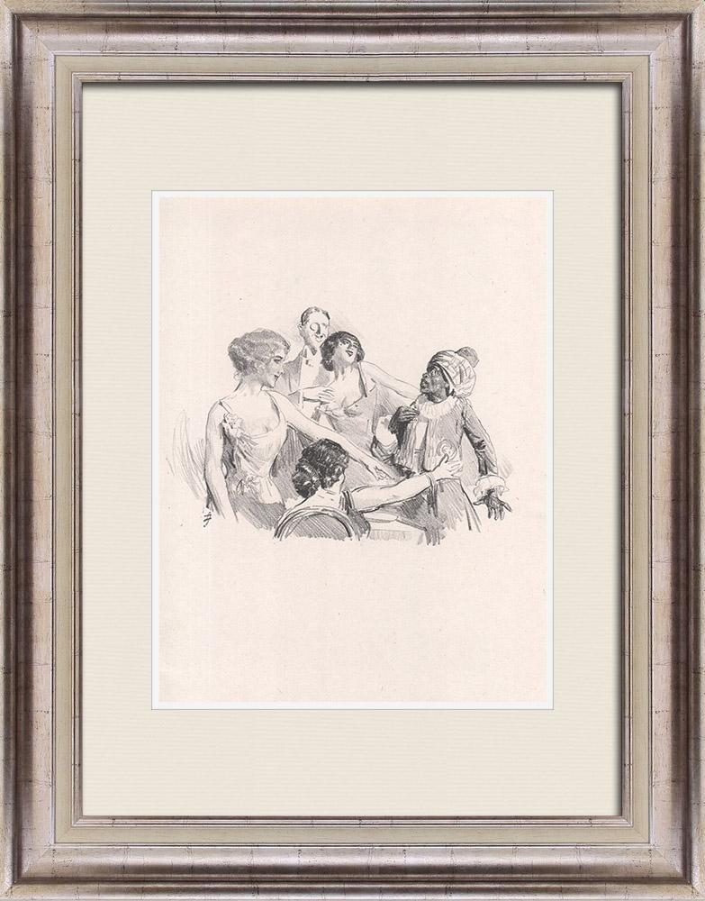 Gravures Anciennes & Dessins | Pièce de Théâtre - Education de Prince (Maurice Donnay) 4/62 | Lithographie | 1931