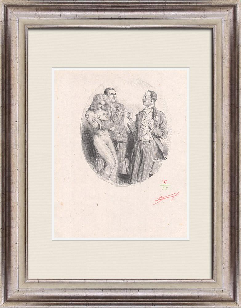 Gravures Anciennes & Dessins | Pièce de Théâtre - Education de Prince (Maurice Donnay) 5/62 | Lithographie | 1931