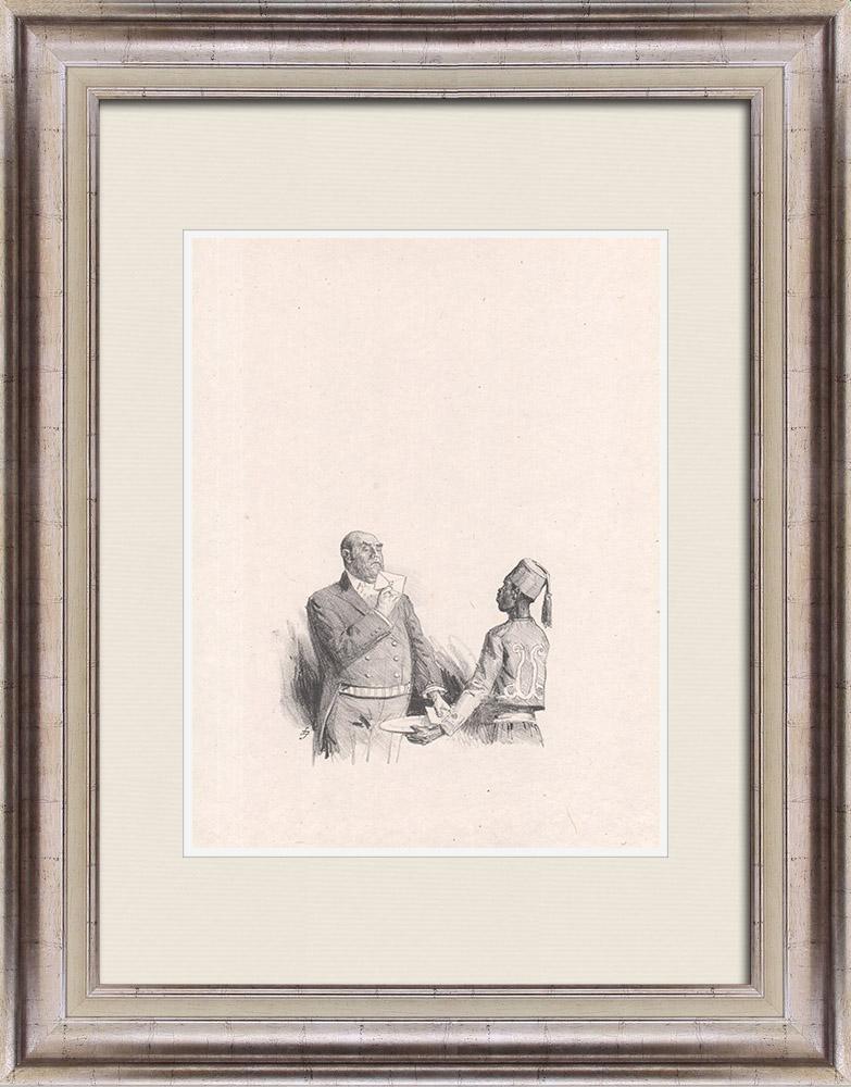 Gravures Anciennes & Dessins   Pièce de Théâtre - Education de Prince (Maurice Donnay) 7/62   Lithographie   1931