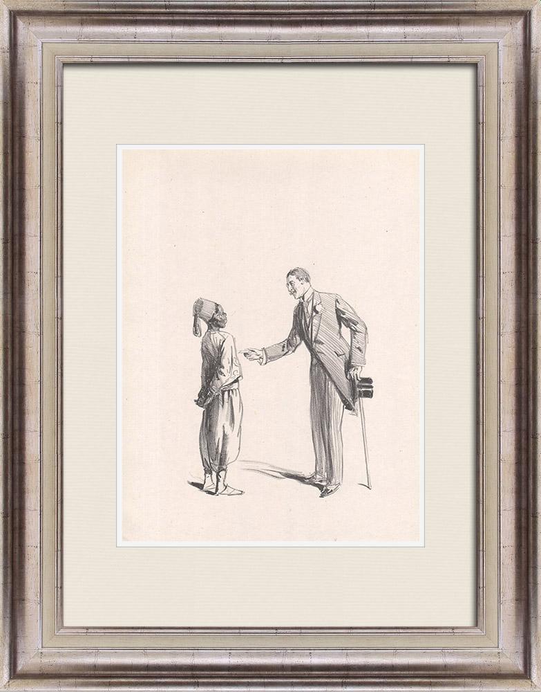 Gravures Anciennes & Dessins | Pièce de Théâtre - Education de Prince (Maurice Donnay) 8/62 | Lithographie | 1931
