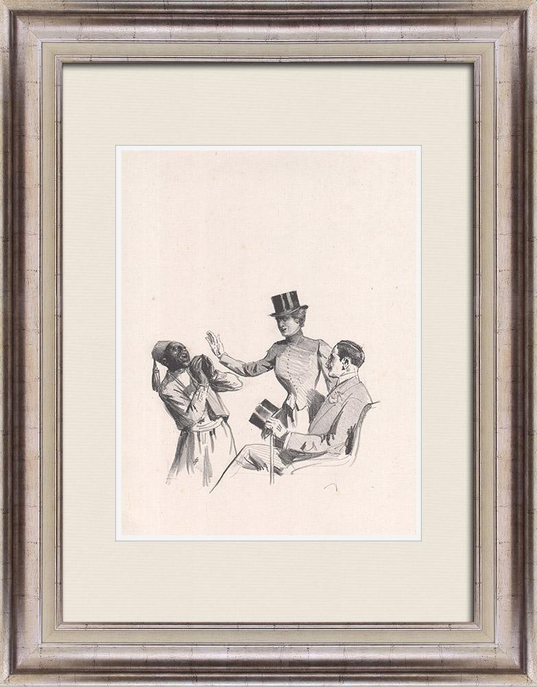 Gravures Anciennes & Dessins | Pièce de Théâtre - Education de Prince (Maurice Donnay) 9/62 | Lithographie | 1931