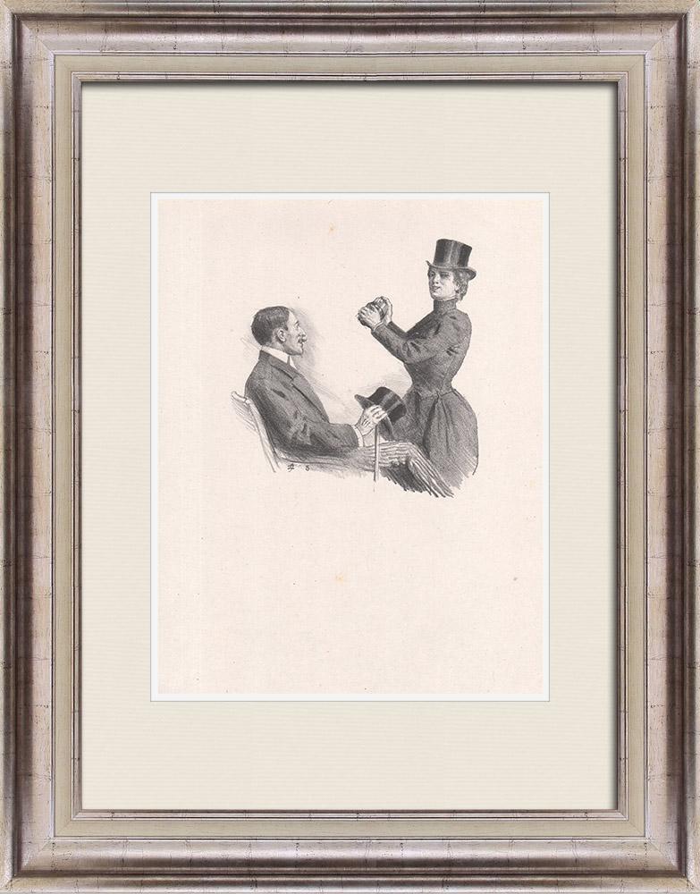 Gravures Anciennes & Dessins | Pièce de Théâtre - Education de Prince (Maurice Donnay) 11/62 | Lithographie | 1931