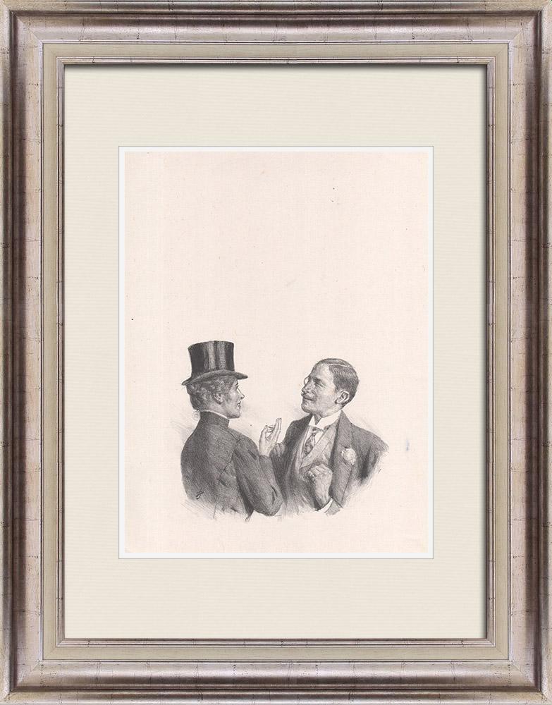 Gravures Anciennes & Dessins | Pièce de Théâtre - Education de Prince (Maurice Donnay) 12/62 | Lithographie | 1931