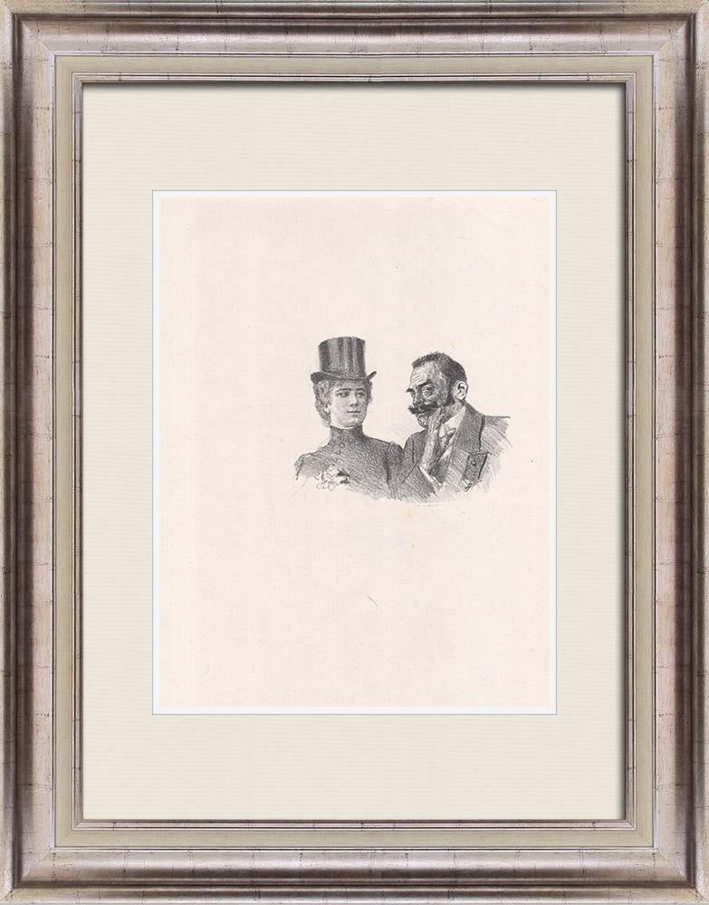 Gravures Anciennes & Dessins | Pièce de Théâtre - Education de Prince (Maurice Donnay) 15/62 | Lithographie | 1931