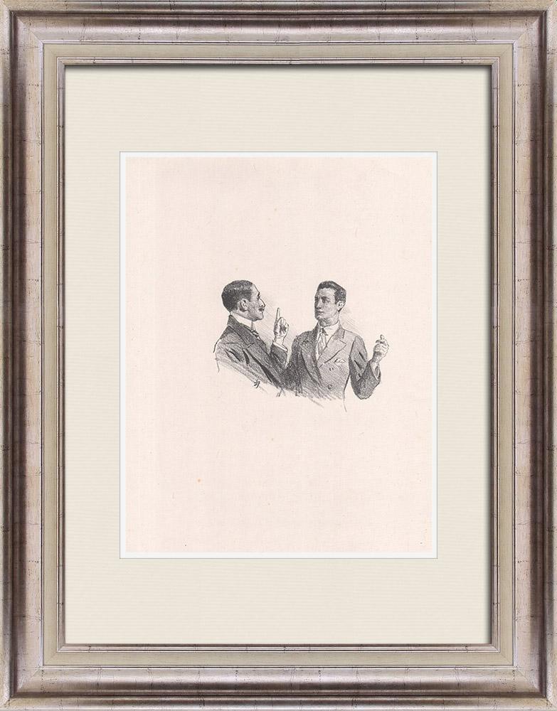 Gravures Anciennes & Dessins | Pièce de Théâtre - Education de Prince (Maurice Donnay) 16/62 | Lithographie | 1931