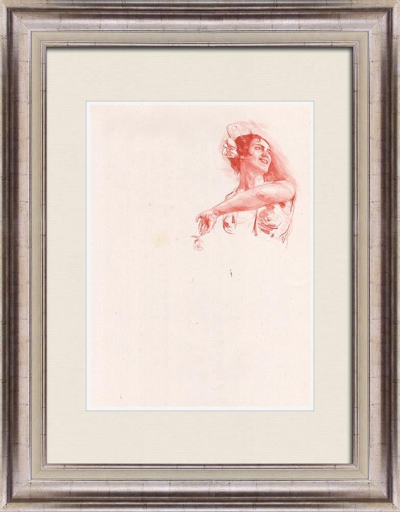 Gravures Anciennes & Dessins | Pièce de Théâtre - Education de Prince (Maurice Donnay) 19/62 | Lithographie | 1931