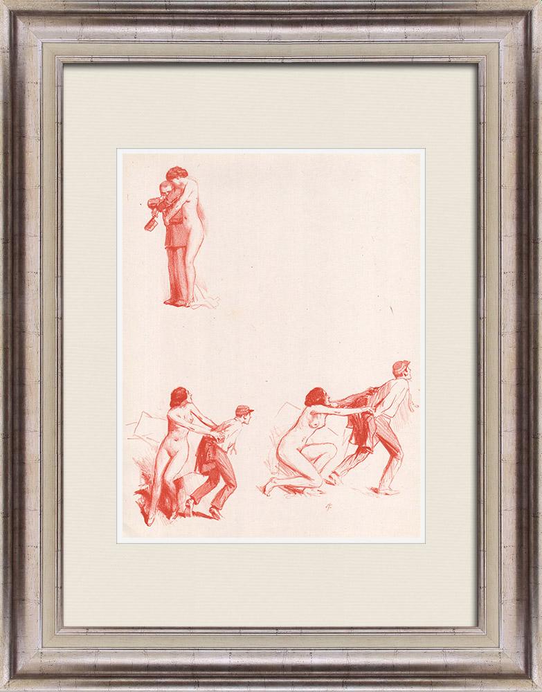 Gravures Anciennes & Dessins   Pièce de Théâtre - Education de Prince (Maurice Donnay) 20/62   Lithographie   1931