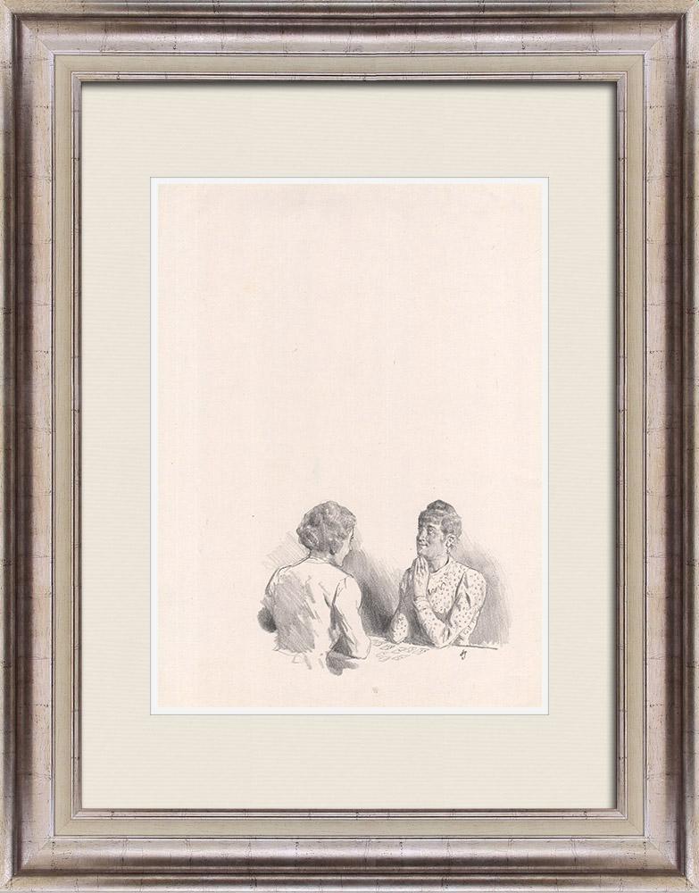 Gravures Anciennes & Dessins | Pièce de Théâtre - Education de Prince (Maurice Donnay) 23/62 | Lithographie | 1931