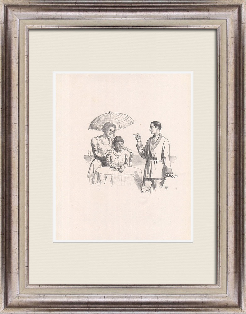 Antique Prints & Drawings   Theatre - Play - Education of a Prince (Maurice Donnay) 24/62   Lithography   1931