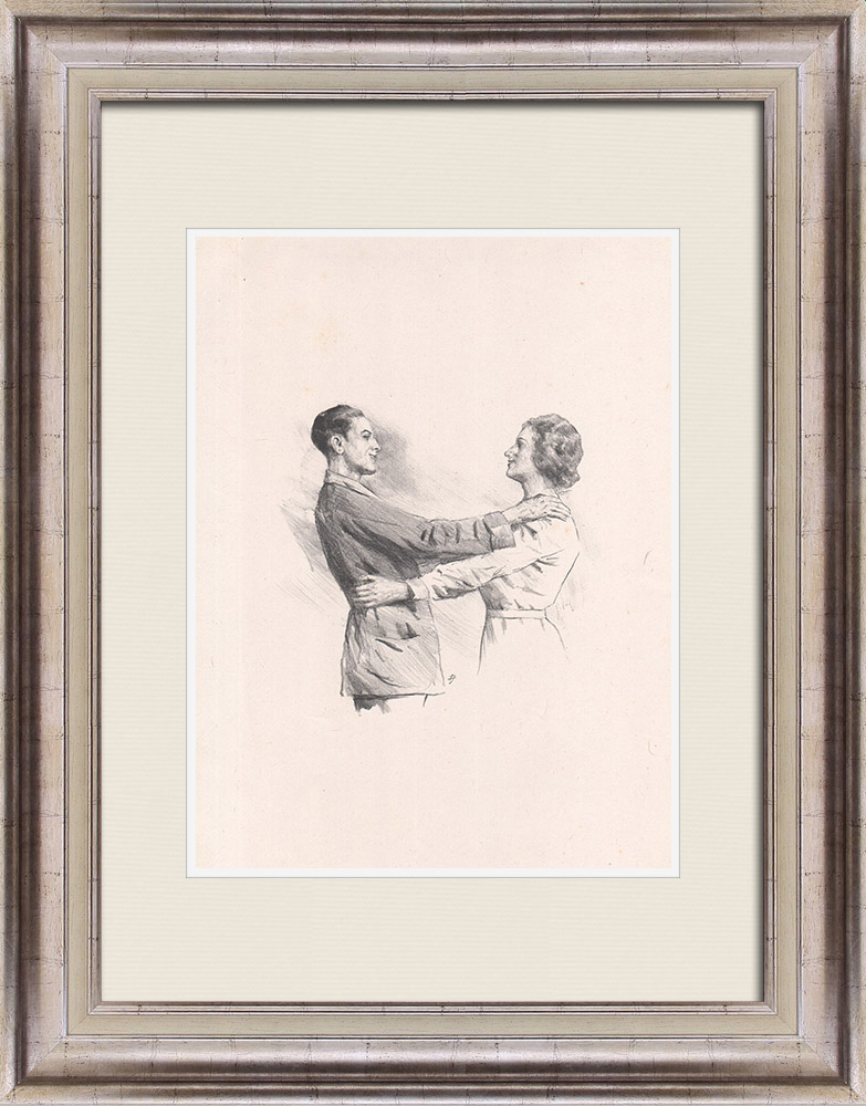 Antique Prints & Drawings   Theatre - Play - Education of a Prince (Maurice Donnay) 25/62   Lithography   1931