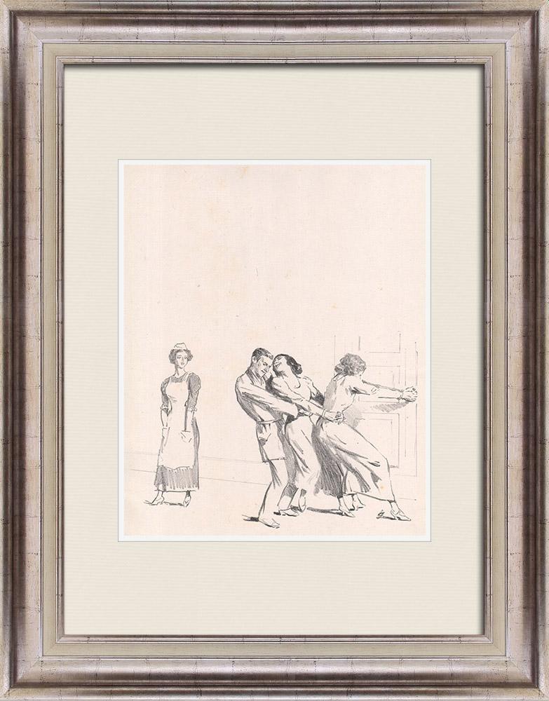 Gravures Anciennes & Dessins | Pièce de Théâtre - Education de Prince (Maurice Donnay) 29/62 | Lithographie | 1931