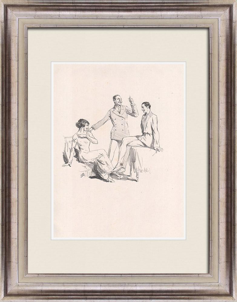 Gravures Anciennes & Dessins | Pièce de Théâtre - Education de Prince (Maurice Donnay) 30/62 | Lithographie | 1931