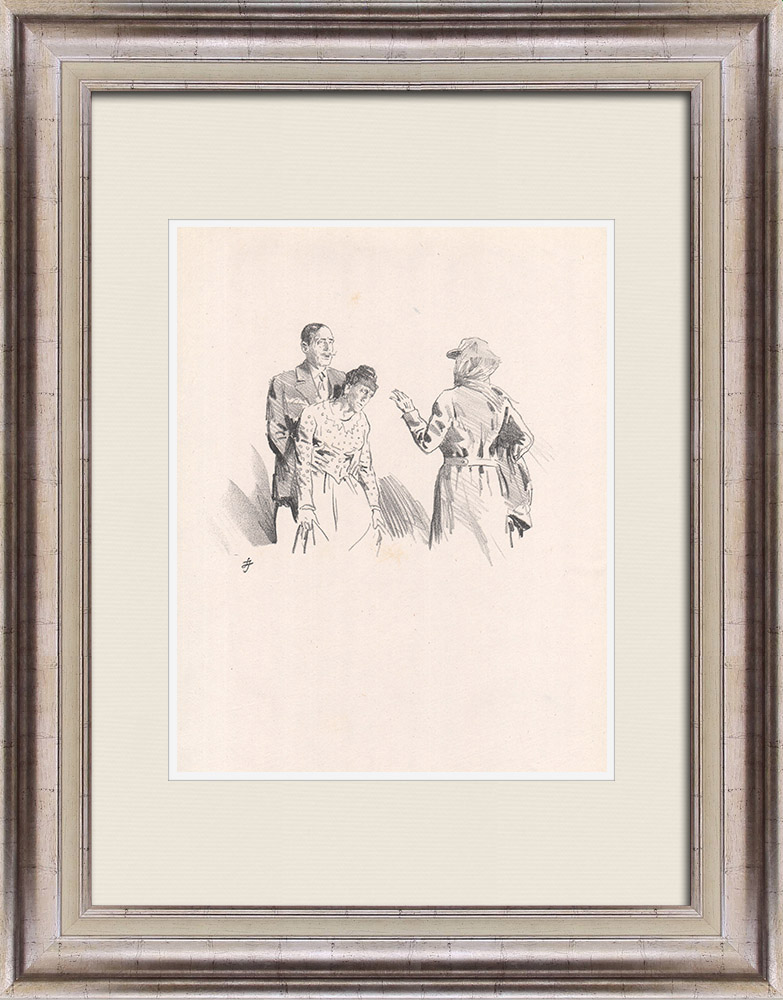 Antique Prints & Drawings | Theatre - Play - Education of a Prince (Maurice Donnay) 32/62 | Lithography | 1931