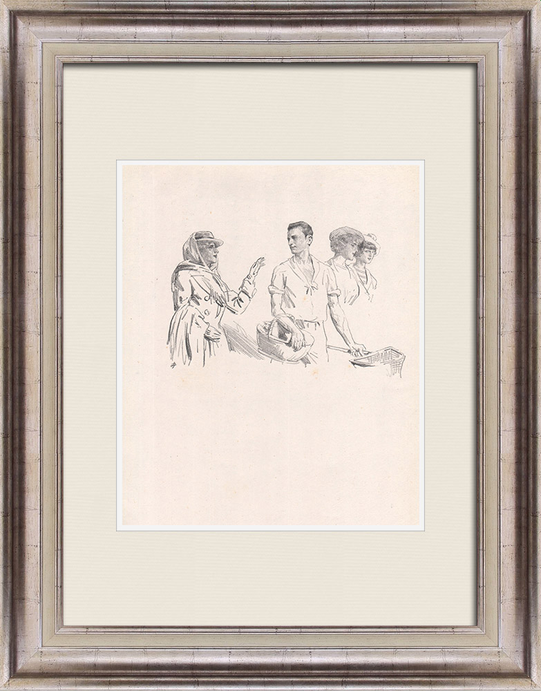 Antique Prints & Drawings   Theatre - Play - Education of a Prince (Maurice Donnay) 34/62   Lithography   1931