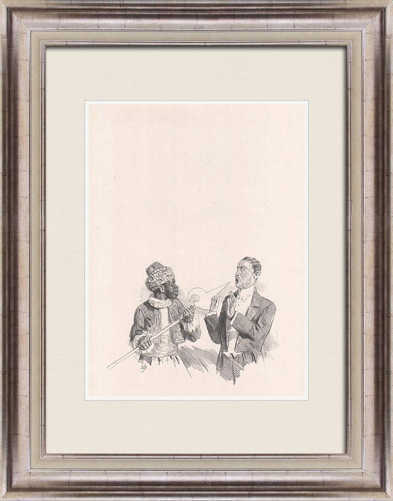 Gravures Anciennes & Dessins   Pièce de Théâtre - Education de Prince (Maurice Donnay) 36/62   Lithographie   1931