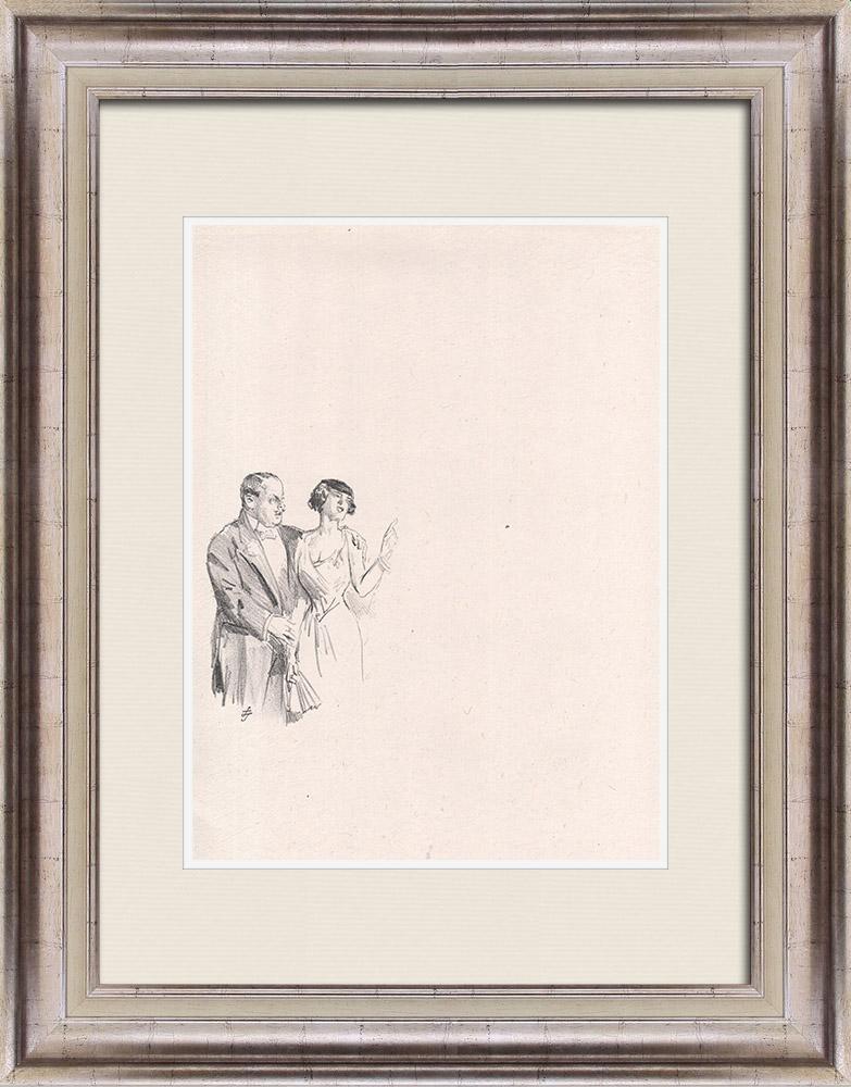 Gravures Anciennes & Dessins | Pièce de Théâtre - Education de Prince (Maurice Donnay) 40/62 | Lithographie | 1931