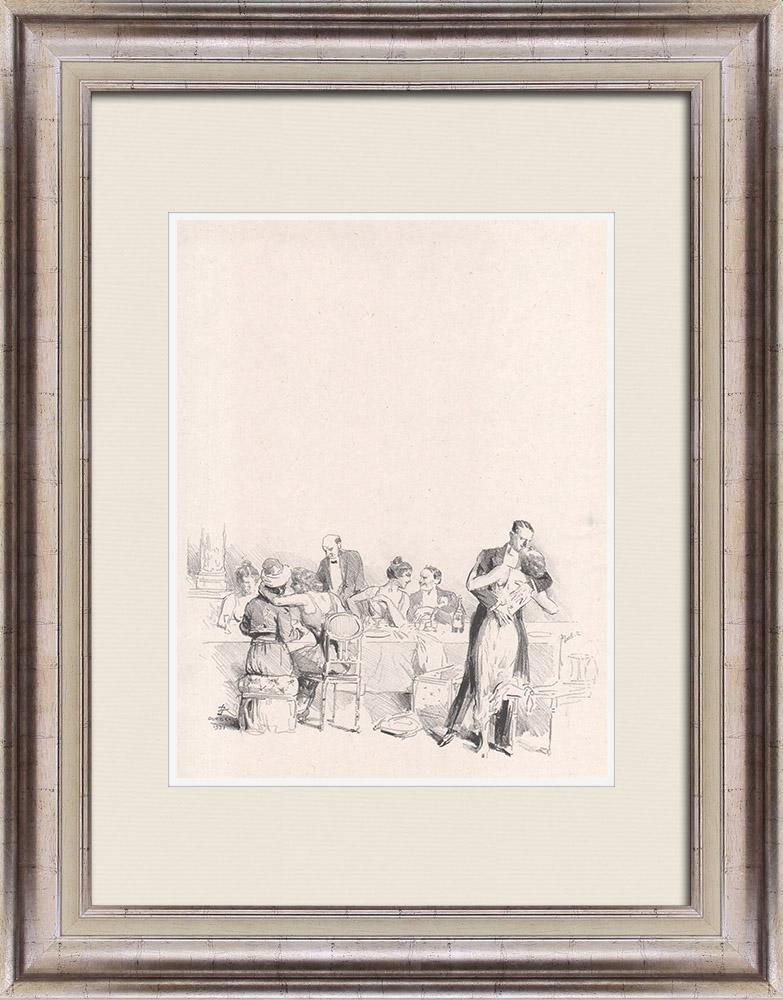 Gravures Anciennes & Dessins | Pièce de Théâtre - Education de Prince (Maurice Donnay) 42/62 | Lithographie | 1931