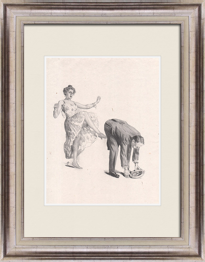 Antique Prints & Drawings | Theatre - Play - Education of a Prince (Maurice Donnay) 45/62 | Lithography | 1931