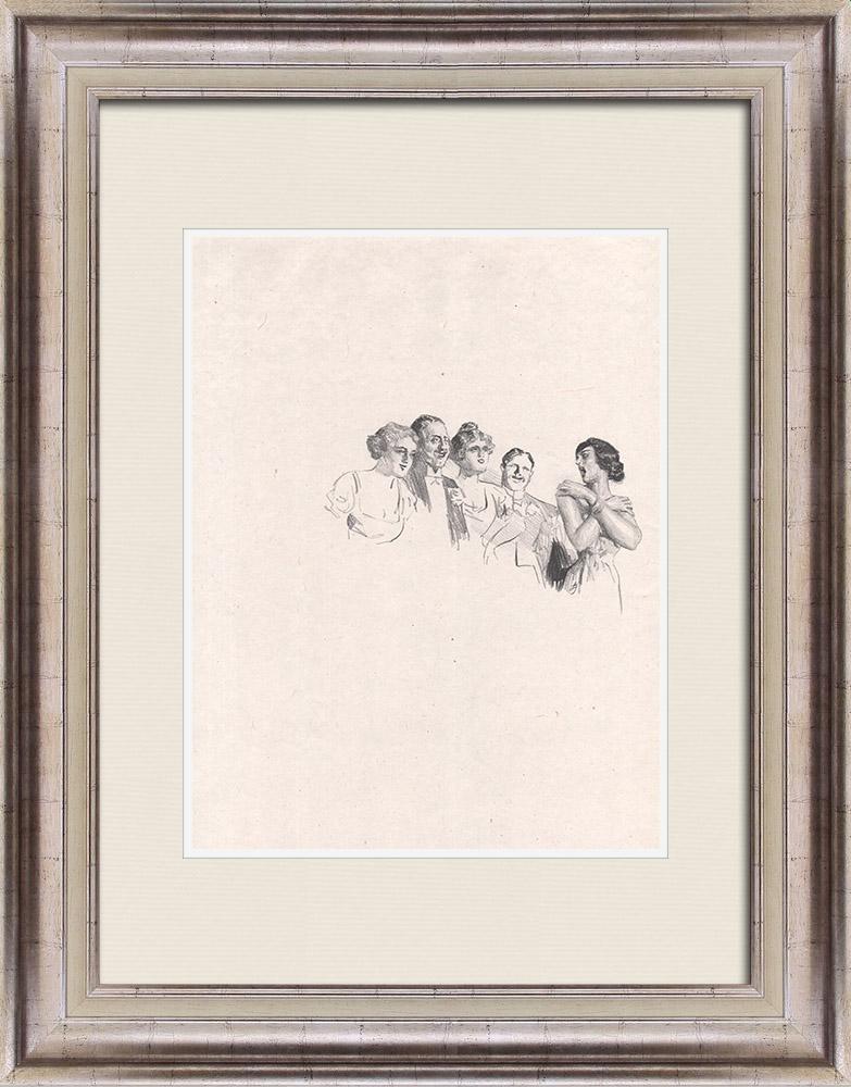 Gravures Anciennes & Dessins | Pièce de Théâtre - Education de Prince (Maurice Donnay) 46/62 | Lithographie | 1931