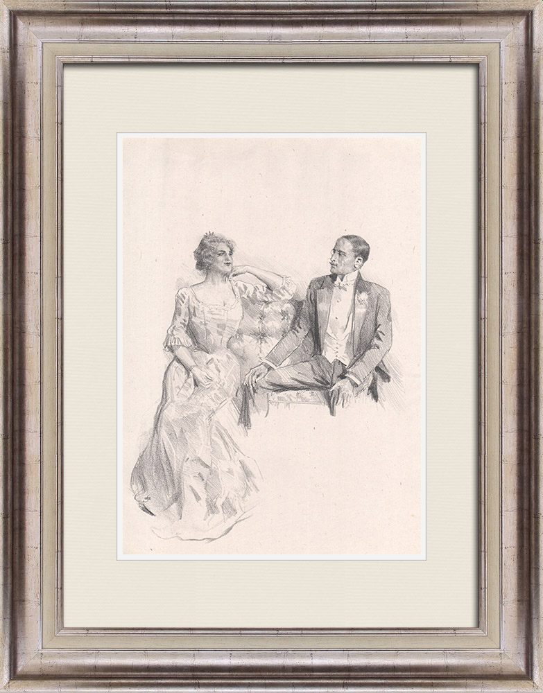 Gravures Anciennes & Dessins | Pièce de Théâtre - Education de Prince (Maurice Donnay) 47/62 | Lithographie | 1931