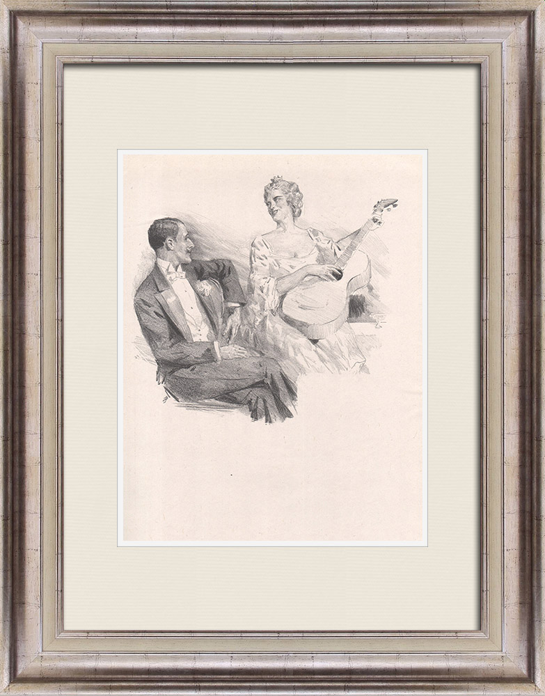 Antique Prints & Drawings   Theatre - Play - Education of a Prince (Maurice Donnay) 50/62   Lithography   1931