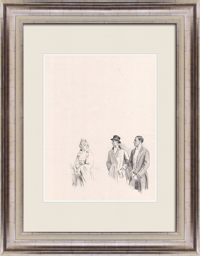 Antique Prints & Drawings   Theatre - Play - Education of a Prince (Maurice Donnay) 51/62   Lithography   1931