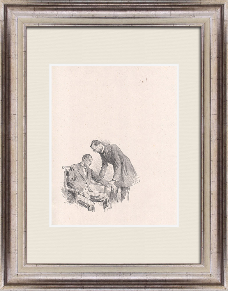 Antique Prints & Drawings   Theatre - Play - Education of a Prince (Maurice Donnay) 54/62   Lithography   1931