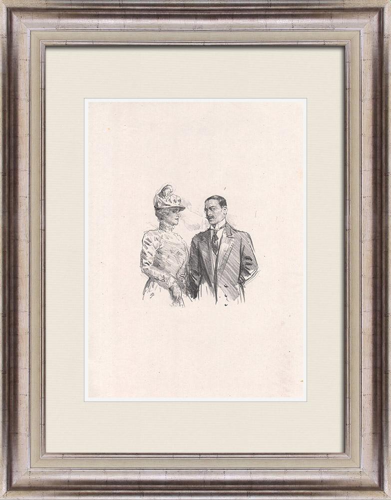 Gravures Anciennes & Dessins | Pièce de Théâtre - Education de Prince (Maurice Donnay) 57/62 | Lithographie | 1931