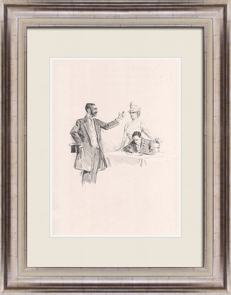 Antique Prints & Drawings | Theatre - Play - Education of a Prince (Maurice Donnay) 59/62 | Lithography | 1931