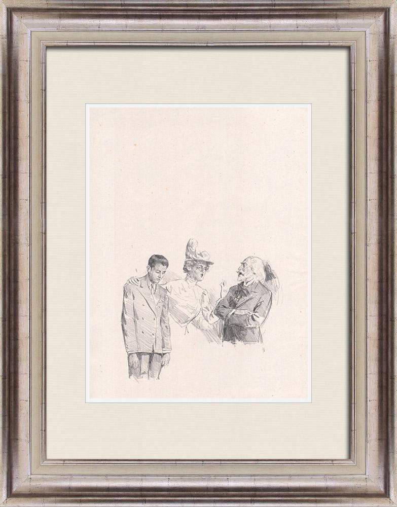 Gravures Anciennes & Dessins | Pièce de Théâtre - Education de Prince (Maurice Donnay) 61/62 | Lithographie | 1931