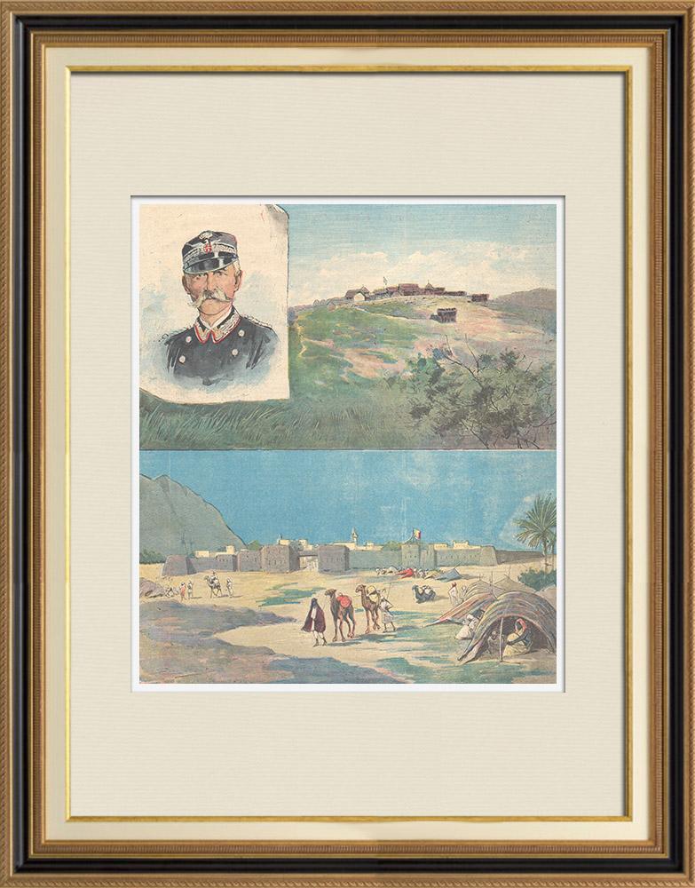 Antique Prints & Drawings   Dervishes war against Eritrea - Giuseppe Vigano - 1897   Wood engraving   1897