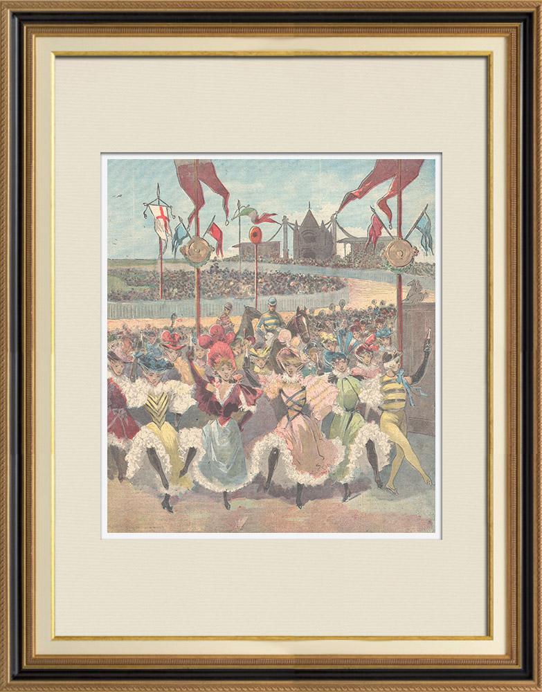 Gravures Anciennes & Dessins | Spectacle - Sport - Luigi Manzotti - Scala de Milan - Italie - 1897 | Gravure sur bois | 1897