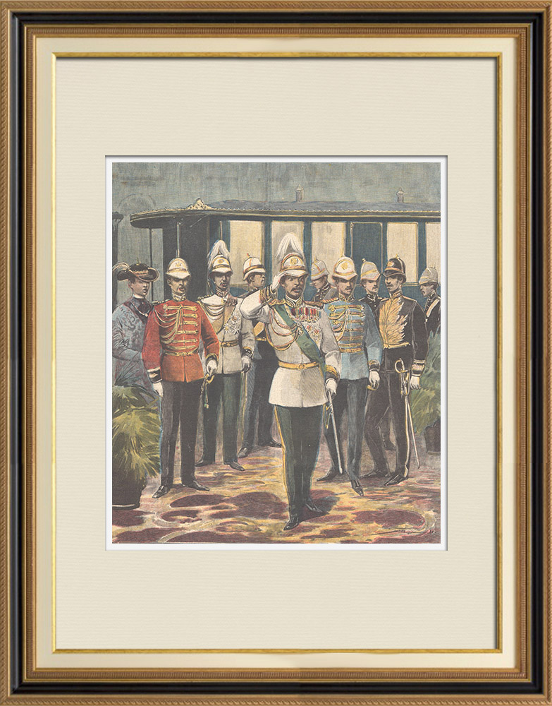 Antique Prints & Drawings | Visit of the King of Siam in Italy - Rome - 1897 | Wood engraving | 1897