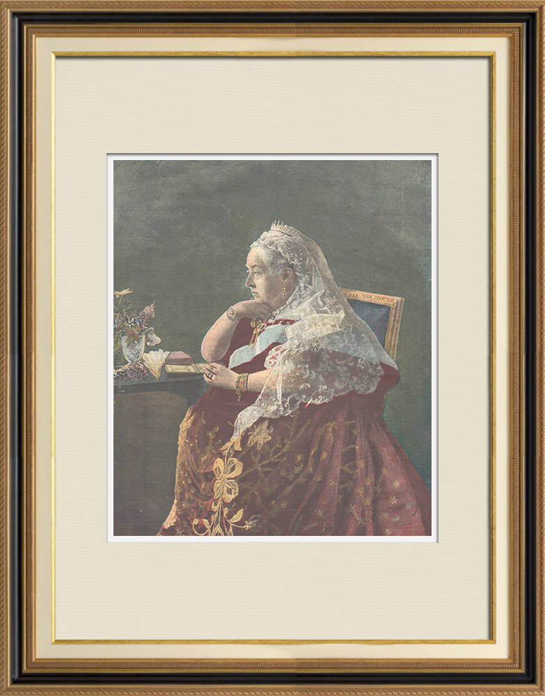 Antique Prints & Drawings | Portrait of Victoria, Queen of England, Empress of the Indies (1819-1901) | Wood engraving | 1897