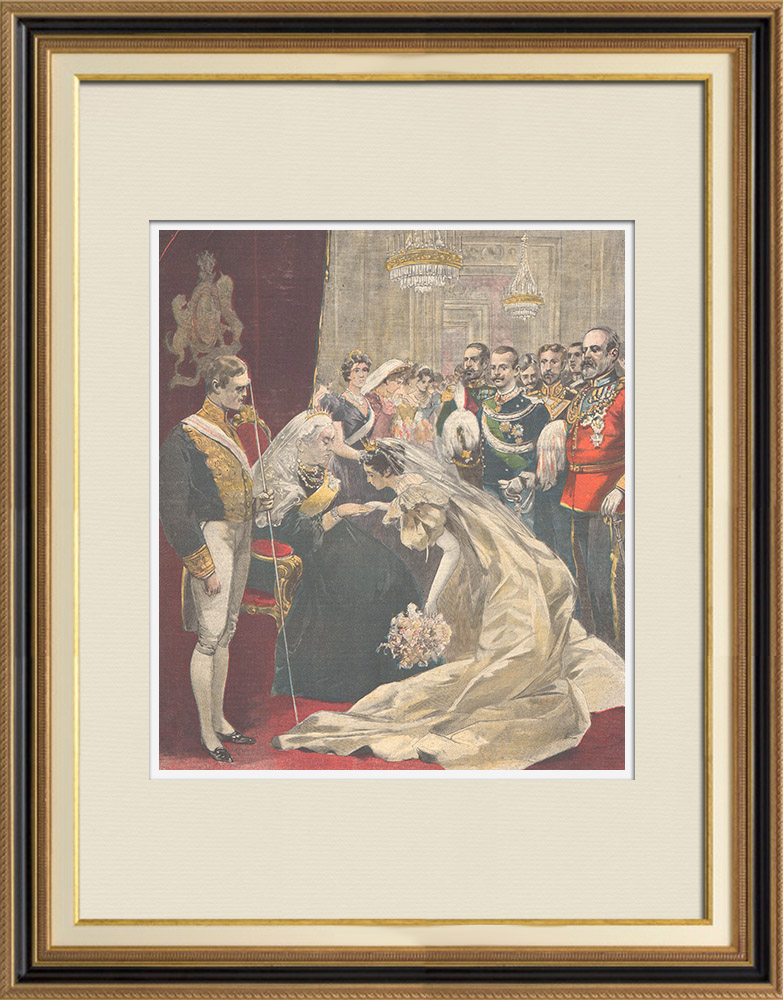 Antique Prints & Drawings | Feast in London - Jubilee of Queen Victoria of England - 1897 | Wood engraving | 1897