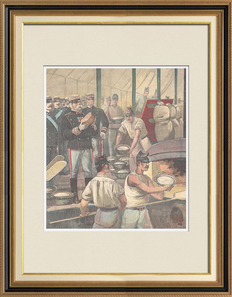 Gravures Anciennes & Dessins   Grandes manœuvres dans la région de Vérone - Italie - 1897   Gravure sur bois   1897