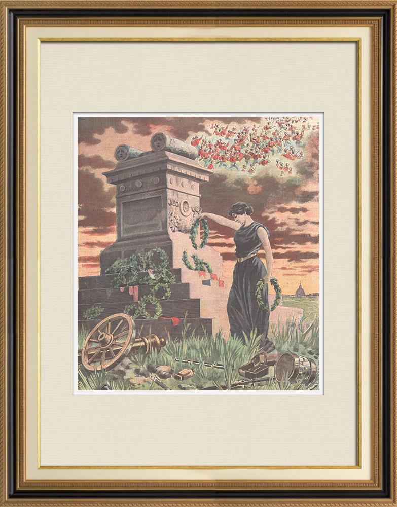 Gravures Anciennes & Dessins | 30ème Anniversaire de la bataille de Mentana - Risorgimento - Italie - 1897 | Gravure sur bois | 1897
