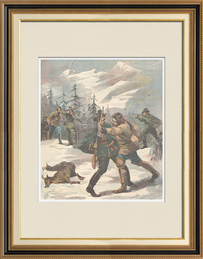 Antique Prints & Drawings | Accident in Pontebernardo - Piedmont - Italy - 1897 | Wood engraving | 1897