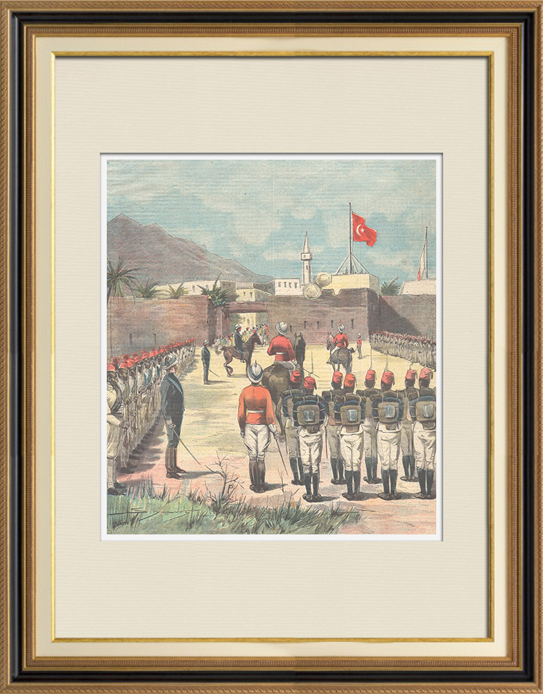 Antique Prints & Drawings | Transfer of Kassala to anglo-egyptian troops - Sudan - 1898 | Wood engraving | 1898