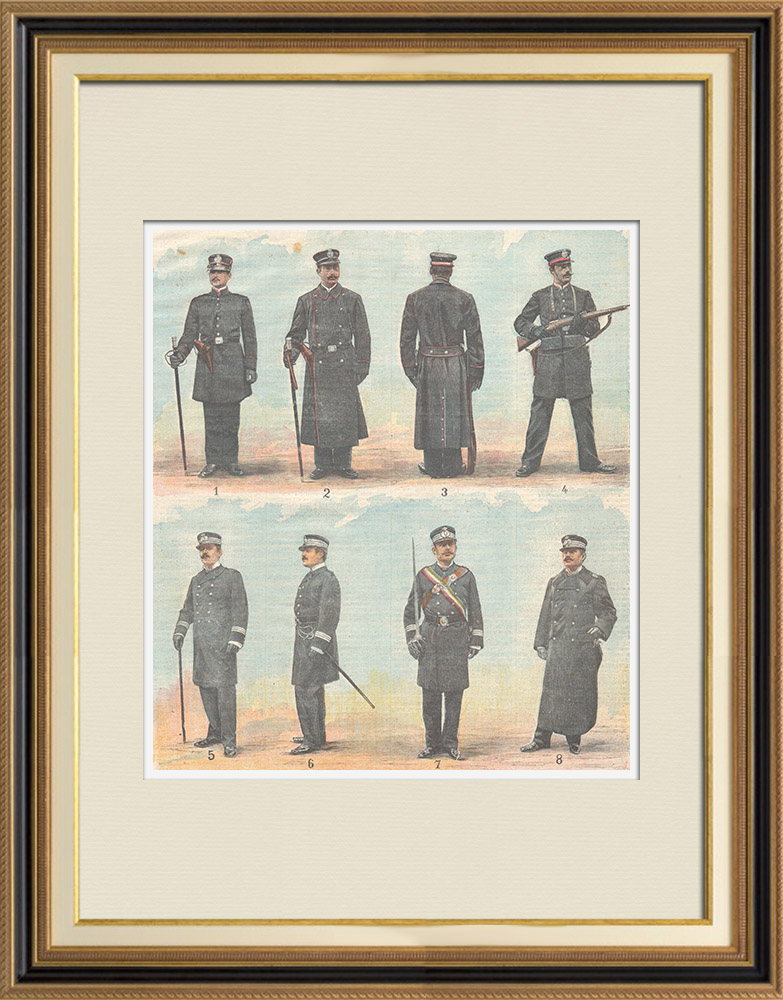 Antique Prints & Drawings | Military Uniform - Guards of the City of Rome - Italy - 1898 | Wood engraving | 1898