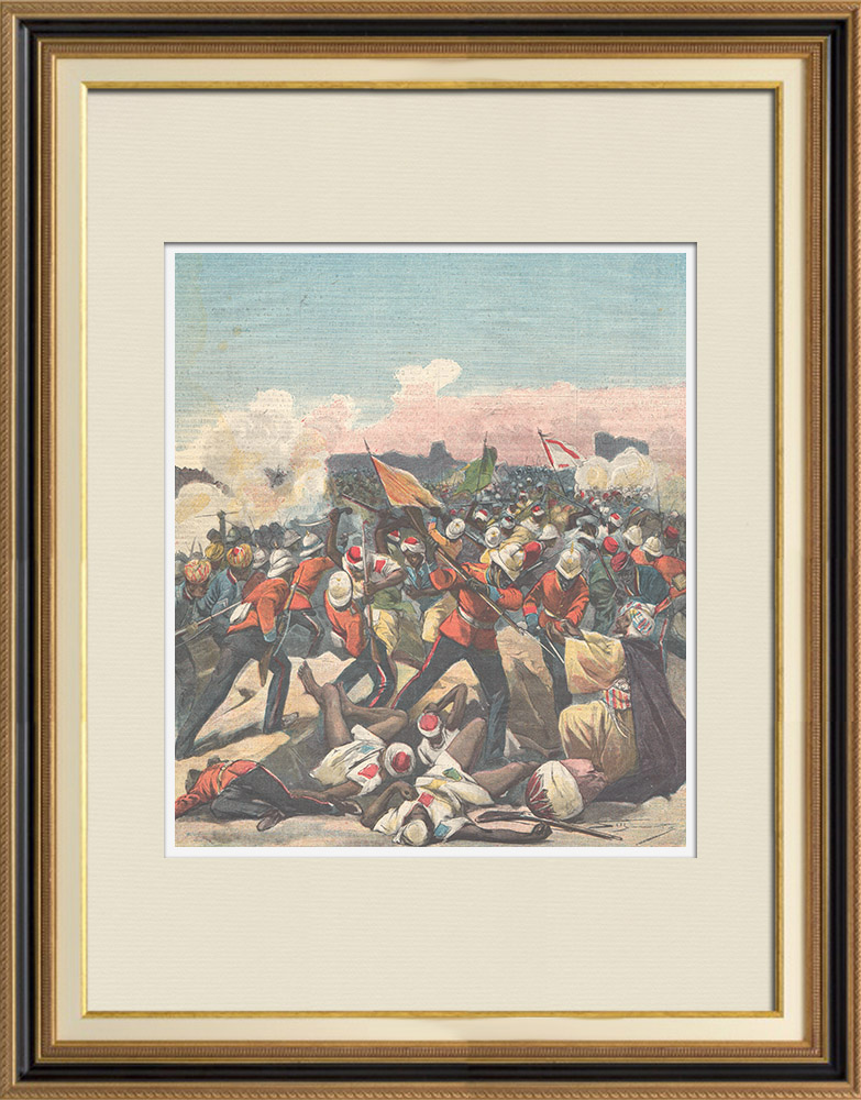 Antique Prints & Drawings | Battle of Atbara - War Sudan - Mahdist War - Sudan - 1898 | Wood engraving | 1898
